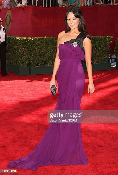 Actress Lindsay Price arrives at the 61st Primetime Emmy Awards held at the Nokia Theatre on September 20 2009 in Los Angeles California