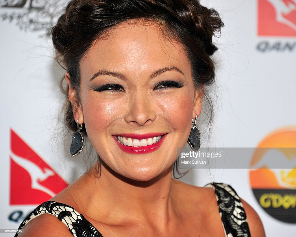 Actress Lindsay Price arrives for the G'Day USA Black Tie Gala held at at the JW Marriot at LA Live on January 12, 2013 in Los Angeles, California.