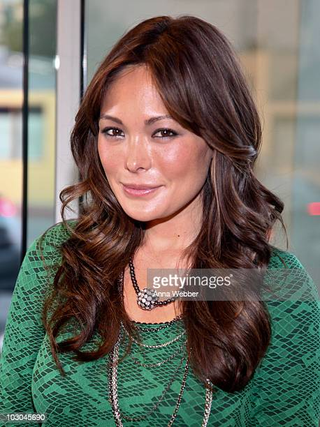 Actress Lindsay Price attends ARCADE Boutique and Hpnotiq Celebrate 'Arm Candy' by Jill Kargman at ARCADE Boutique on July 22 2010 in Hollywood...