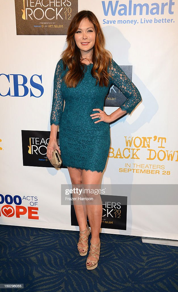 Actress Lindsay Price attends CBS' Teacher's Rock Special Live Concert Press Room at Nokia Theatre L.A. Live on August 14, 2012 in Los Angeles, California.