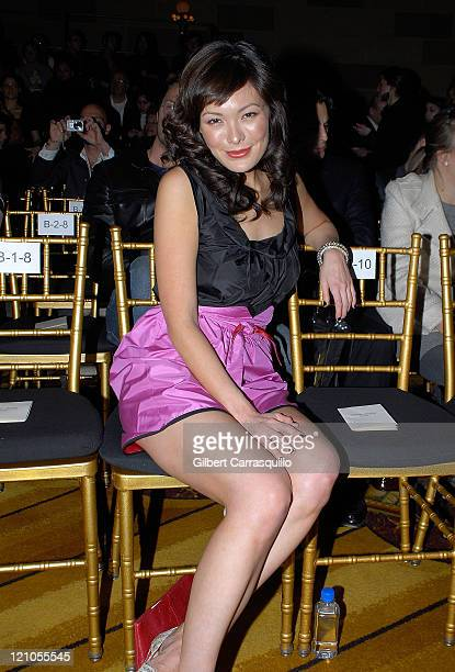 Actress Lindsay Price attends Cynthia Rowley Fall 2008 during MercedesBenz Fashion Week at Bryant Park on February 07 2008 in New York City