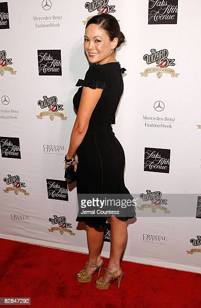 Actress Lindsay Price attends Sak's Fifth Avenue Warner Brothers and Swarovski Unveiling of the Ruby Slipper Collection To Commemorate the 70th...