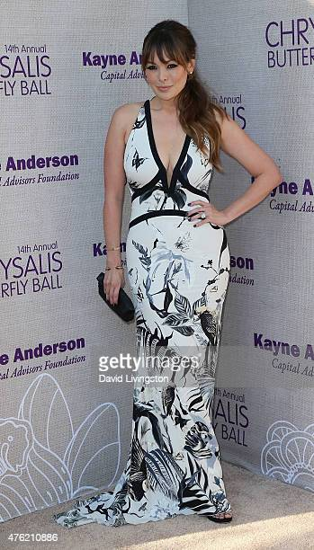 Actress Lindsay Price attends the 14th Annual Chrysalis Butterfly Ball sponsored by Audi Kayne Anderson Lauren B Beauty and Z Gallerie at a private...