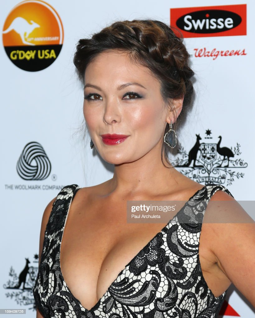 Actress Lindsay Price attends the 2013 G'Day USA Los Angeles Black Tie Gala at JW Marriott Los Angeles at L.A. LIVE on January 12, 2013 in Los Angeles, California.