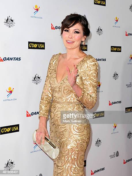 Actress Lindsay Price attends the 2014 G'Day USA Los Angeles Black Tie Gala at JW Marriott Los Angeles at LA LIVE on January 11 2014 in Los Angeles...