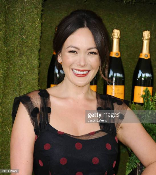 Actress Lindsay Price attends the 8th annual Veuve Clicquot Polo Classic at Will Rogers State Historic Park on October 14 2017 in Pacific Palisades...