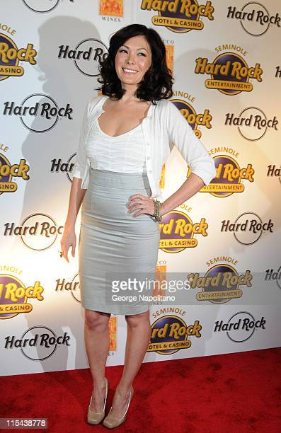 Actress Lindsay Price during the launch of Bracco Wines at the Hard Rock Cafe on February 25 2008 in New York City