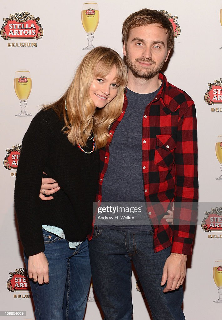 Actress <a gi-track='captionPersonalityLinkClicked' href=/galleries/search?phrase=Lindsay+Pulsipher&family=editorial&specificpeople=572940 ng-click='$event.stopPropagation()'>Lindsay Pulsipher</a> and director Calvin Lee Reeder attend the Stella Artois press junket for 'The Ramblers' at Village at the Lift on January 21, 2013 in Park City, Utah.