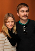 Actress Lindsay Pulsipher and director Calvin Reederpose for a portrait during the 2011 Sundance Film Festival at The Samsung Galaxy Tab Lift on...