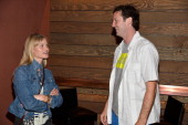 Actress Lindsay Pulsipher and Director of Programming Sundance Film Festival Trevor Groth attend the Shorts Lab during NEXT WEEKEND presented by...