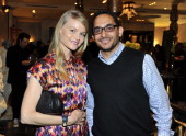 Actress Lindsay Pulsipher and Marc Peralta attend Kelly Wearstler for NKLA event on November 19 2013 in Los Angeles California