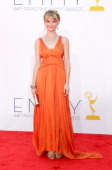Actress Lindsay Pulsipher arrives at the 64th Primetime Emmy Awards at Nokia Theatre LA Live on September 23 2012 in Los Angeles California