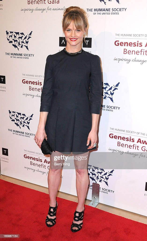 Actress Lindsay Pulsipher attends The Humane Society's 2013 Genesis Awards benefit gala at the Beverly Hilton Hotel on March 23, 2013 in Beverly Hills, California.