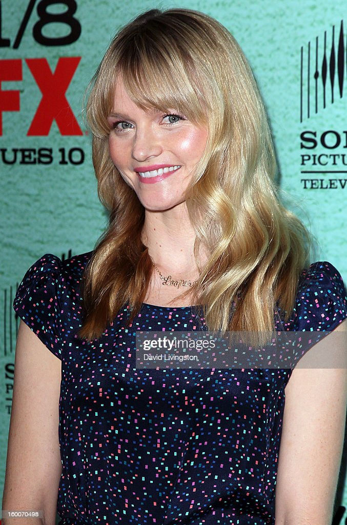 Actress Lindsay Pulsipher attends the premiere of FX's 'Justified' Season 4 at the Paramount Theater on the Paramount Studios lot on January 5, 2013 in Hollywood, California.