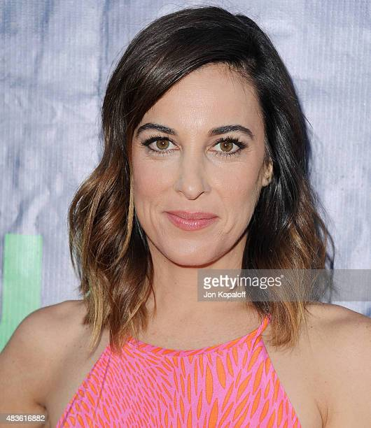 Actress Lindsay Sloane arrives at CBS CW And Showtime 2015 Summer TCA Party at Pacific Design Center on August 10 2015 in West Hollywood California