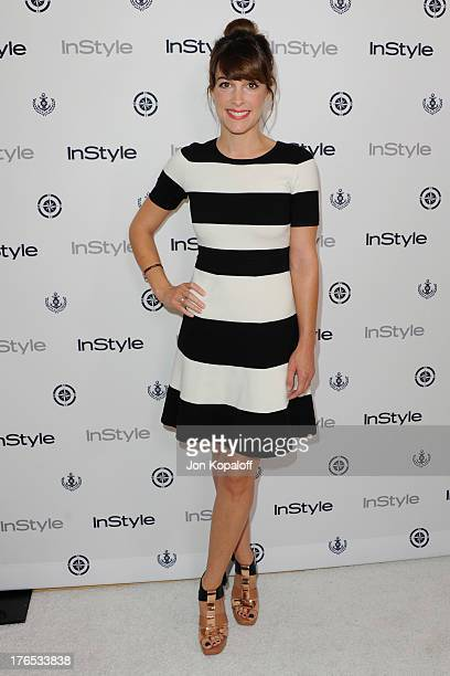 Actress Lindsay Sloane arrives at the 13th Annual InStyle Summer Soiree at Mondrian Los Angeles on August 14 2013 in West Hollywood California