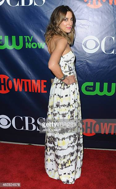 Actress Lindsay Sloane arrives at the CBS The CW Showtime CBS Television Distribution 2014 Television Critics Association Summer Press Tour at...