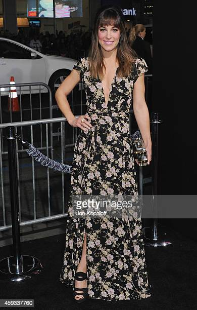 Actress Lindsay Sloane arrives at the Los Angeles Premiere 'Horrible Bosses 2' at TCL Chinese Theatre on November 20 2014 in Hollywood California
