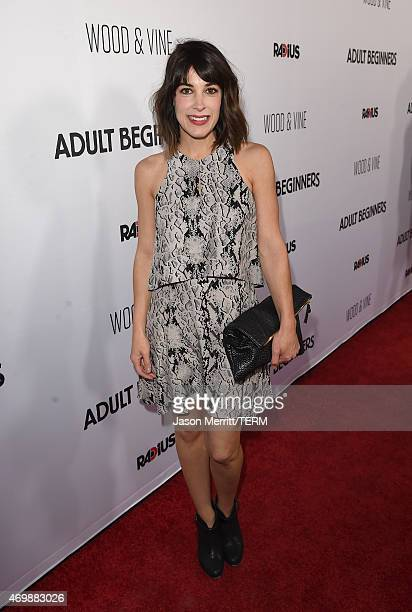 Actress Lindsay Sloane attends the premiere of 'Adult Beginners' at ArcLight Hollywood on April 15 2015 in Hollywood California