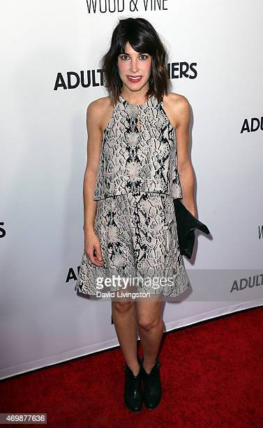 Actress Lindsay Sloane attends the premiere of RADiUS' 'Adult Beginners' at ArcLight Hollywood on April 15 2015 in Hollywood California