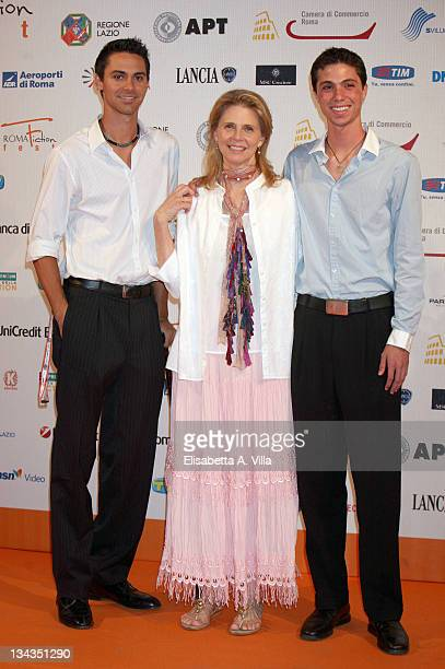 Actress Lindsay Wagner and her sons Dorian and Alex attend the Roma Fiction Fest 2008 Closing Ceremony and Diamond Awards on July 12 2008 in Rome...