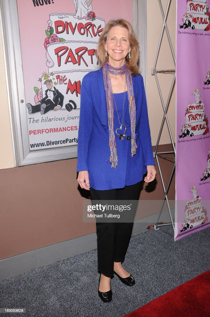 Actress Lindsay Wagner attends the opening night performance of 'Divorce Party - The Musical' at El Portal Theatre on March 3, 2013 in North Hollywood, California.