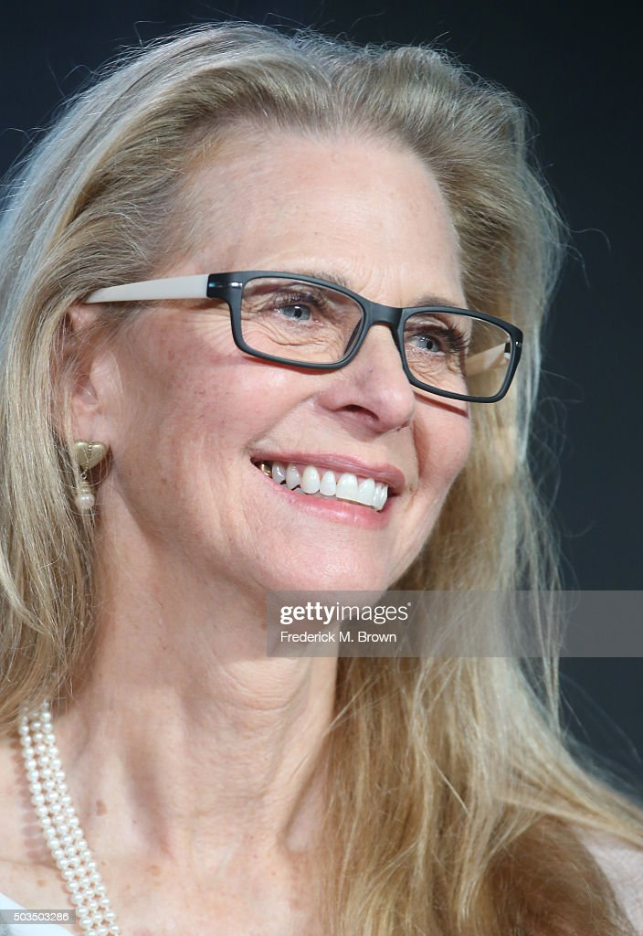 Actress Lindsay Wagner speaks onstage during the 'Love Finds You in Valentine' panel as part of the UP portion of This is Cable 2016 TCA Press Tour at Langham Hotel on January 5, 2016 in Pasadena, California.