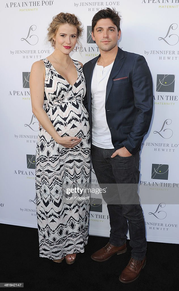 Actress Lindsey Godfrey and Robert Adamson arrive at A Pea In The Pod And Jennifer Love Hewitt Celebrate The Launch Of 'L By Jennifer Love Hewitt' at A Pea In The Pod on April 1, 2014 in Beverly Hills, California.