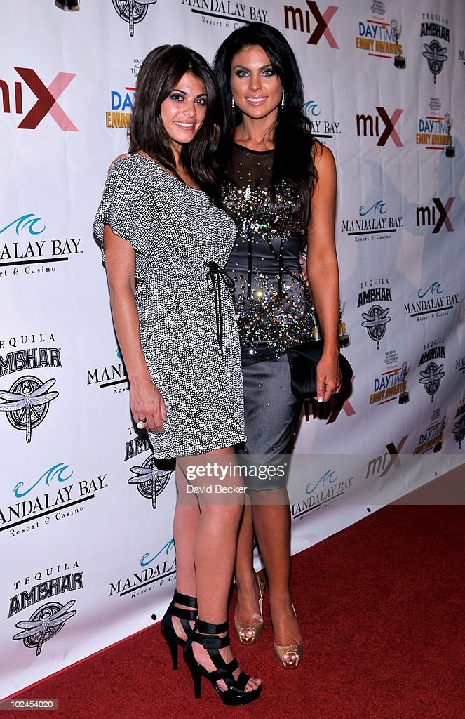 Actress Lindsey Hartley (L) and <a gi-track='captionPersonalityLinkClicked' href=/galleries/search?phrase=Nadia+Bjorlin&family=editorial&specificpeople=2159820 ng-click='$event.stopPropagation()'>Nadia Bjorlin</a> arrive at the official pre-party for the 2010 Daytime Entertainment Emmy Awards at Mix at THEhotel at Mandalay Bay on June 26, 2010 in Las Vegas, Nevada.