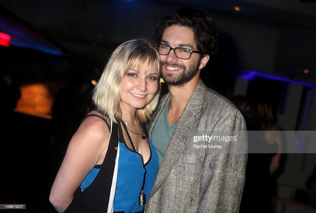 Actress Lindsey Haun (L) and guest attend the VIP red carpet cocktail party hosted by WIKIPAD and NVIDIA as part of the celebrations for E3,2012 held at Elevate Lounge on June 6, 2012 in Los Angeles, California.