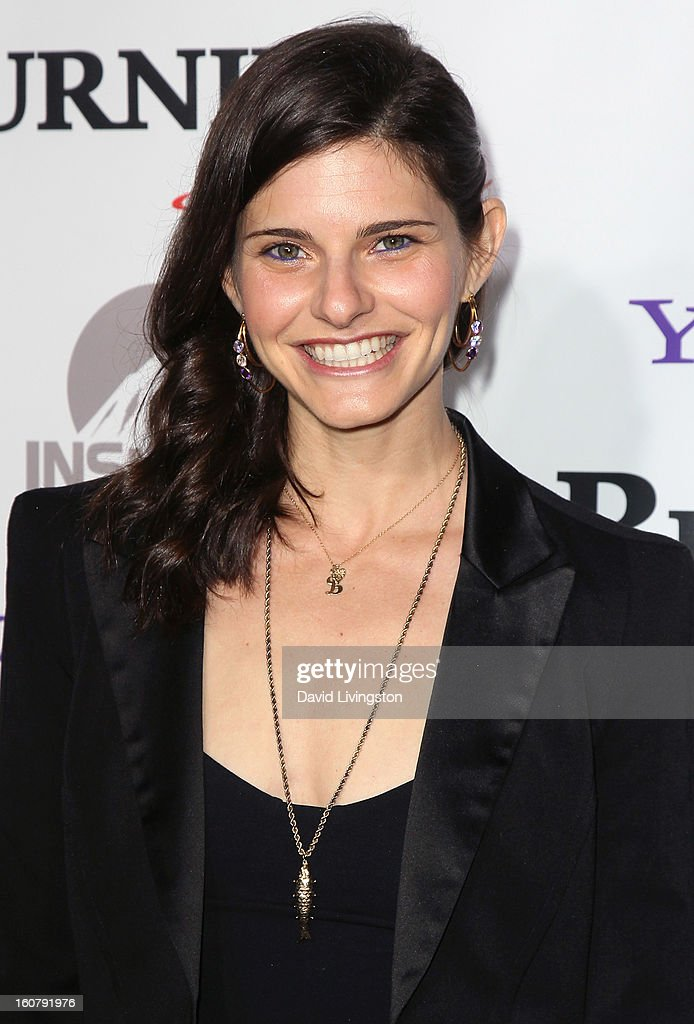 Actress Lindsey Kraft attends the premiere of 'Burning Love' Season 2 at the Paramount Theater on the Paramount Studios lot on February 5, 2013 in Hollywood, California.