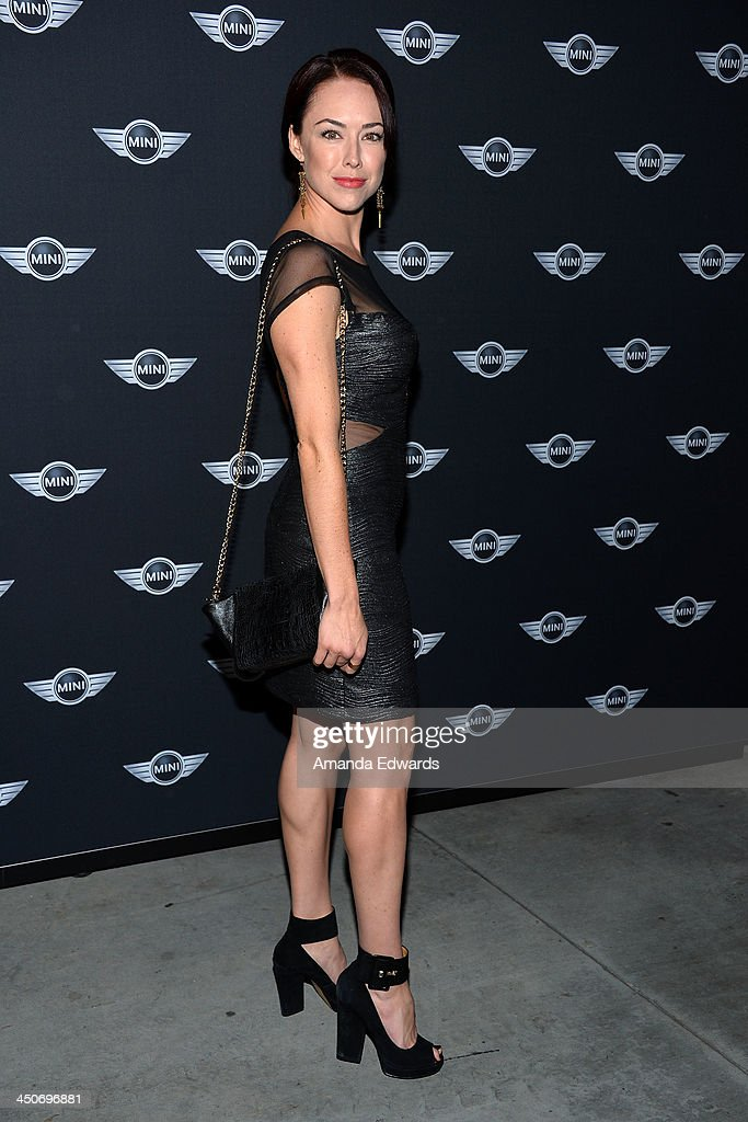 Actress Lindsey McKeon arrives at the MINI Cooper red carpet premiere on November 19, 2013 in Los Angeles, California.