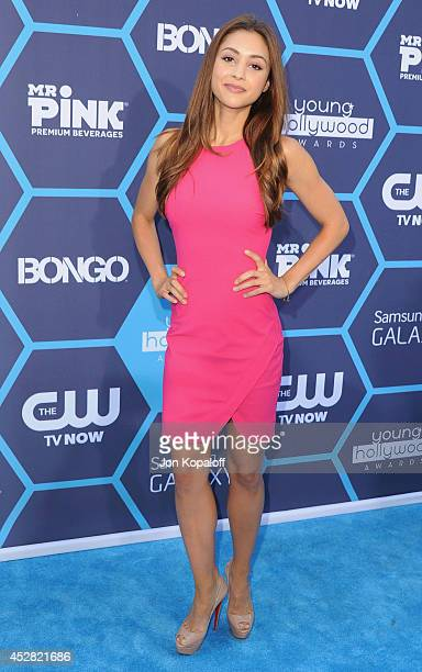 Actress Lindsey Morgan arrives at the 16th Annual Young Hollywood Awards at The Wiltern on July 27 2014 in Los Angeles California