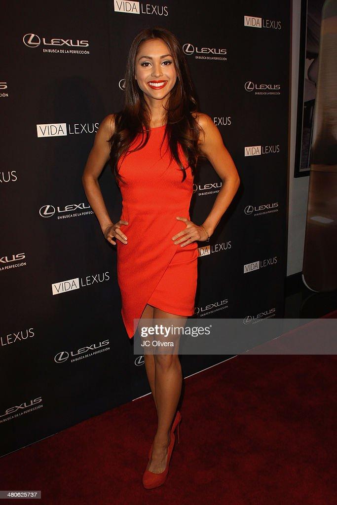 Actress Lindsey Morgan attends Sabor de Lujo at Vida Lexus event celebrating latino culture in Los Angeles at Sofitel Hotel on March 25 2014 in Los...