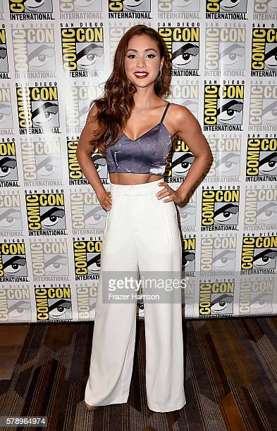 Actress Lindsey Morgan attends 'The 100' Press Line during ComicCon International 2016 at Hilton Bayfront on July 22 2016 in San Diego California