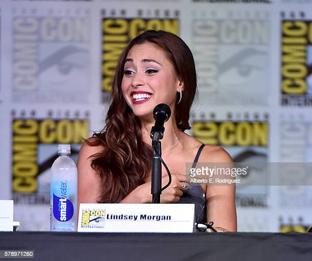 Actress Lindsey Morgan attends 'The 100' Special Video Presentation And QA during ComicCon International 2016 at San Diego Convention Center on July...