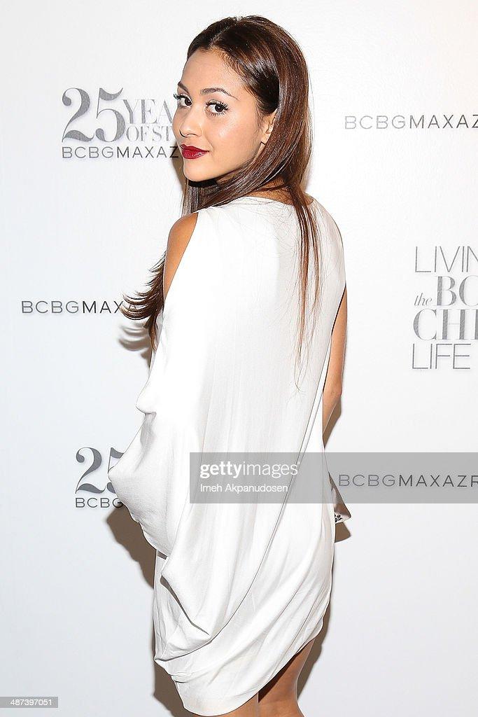 Actress Lindsey Morgan attends the BCBGMAXAZRIA 'Living the Bon Chic Life' 25th Anniversary Retrospective Celebration at BCBG Max Azria Group LLC...