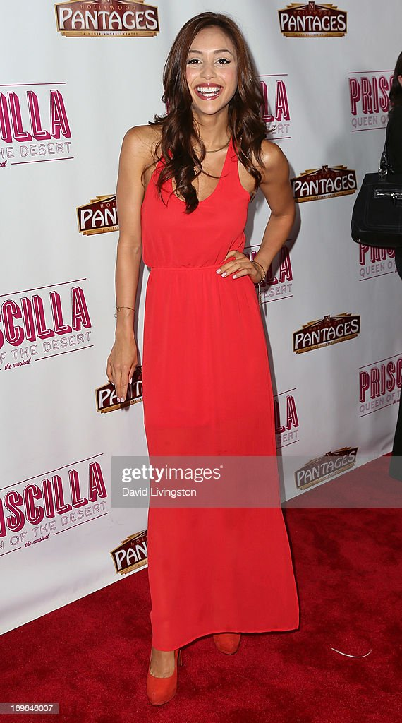 Actress Lindsey Morgan attends the Los Angeles theatre premiere of 'Priscilla Queen of the Desert' at the Pantages Theatre on May 29, 2013 in Hollywood, California.
