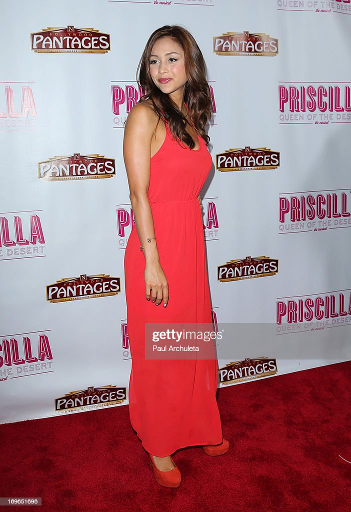 Actress Lindsey Morgan attends the 'Priscilla Queen Of The Desert' theatre premiere at the Pantages Theatre on May 29, 2013 in Hollywood, California.