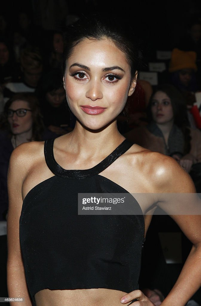Actress Lindsey Morgan attends the Vivienne Tam fashion show during MercedesBenz Fashion Week Fall 2015 at The Theatre at Lincoln Center on February...