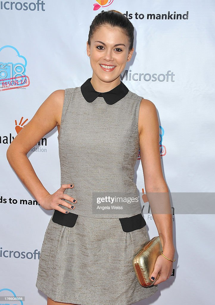 Actress <a gi-track='captionPersonalityLinkClicked' href=/galleries/search?phrase=Lindsey+Shaw&family=editorial&specificpeople=675629 ng-click='$event.stopPropagation()'>Lindsey Shaw</a> arrives at the 18for18: Summer Soiree Honoring the Somaly Mam Foundation on August 18, 2013 in Venice, California.