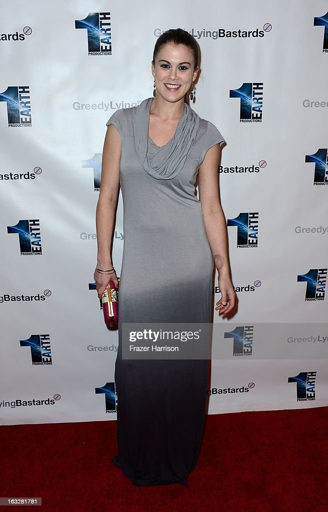 Actress Lindsey Shaw arrives at the screening of 'Greedy Lying Bastards' at Harmony Gold Theatre on March 6, 2013 in Los Angeles, California.