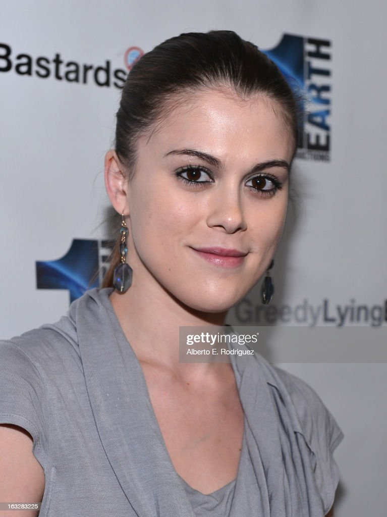 Actress Lindsey Shaw attend a screening of 1 Earth Productions' 'Greedy Lying Bastards' at Harmony Gold Theatre on March 6, 2013 in Los Angeles, California.