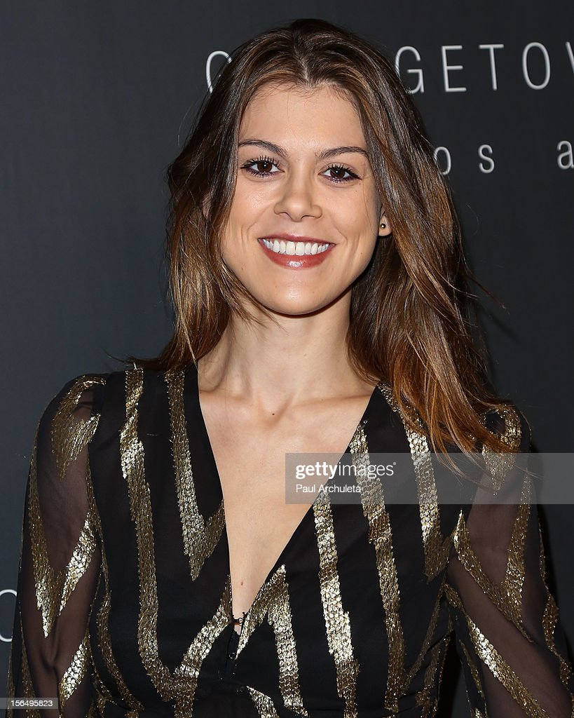 Actress Lindsey Shaw attends the Georgetown Cupcakes Los Angeles grand opening at Georgetown Cupcake Los Angeles on November 15, 2012 in Los Angeles, California.