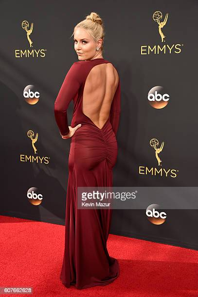 Actress Lindsey Vonn attends the 68th Annual Primetime Emmy Awards at Microsoft Theater on September 18 2016 in Los Angeles California