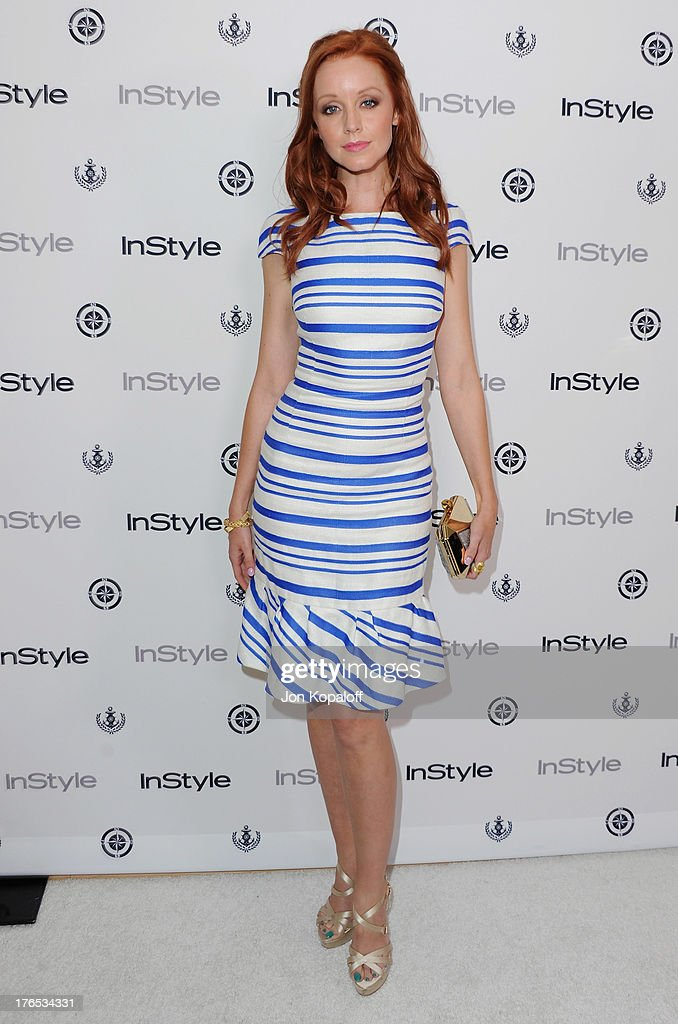 Actress <a gi-track='captionPersonalityLinkClicked' href=/galleries/search?phrase=Lindy+Booth&family=editorial&specificpeople=560349 ng-click='$event.stopPropagation()'>Lindy Booth</a> arrives at the 13th Annual InStyle Summer Soiree at Mondrian Los Angeles on August 14, 2013 in West Hollywood, California.