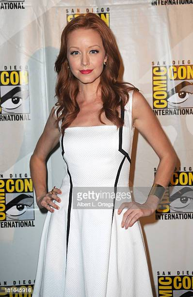 Actress Lindy Booth attends The 'Kick Ass 2' And 'Riddick' Panels as part of ComicCon International 2013 held at San Diego Convention Center on...