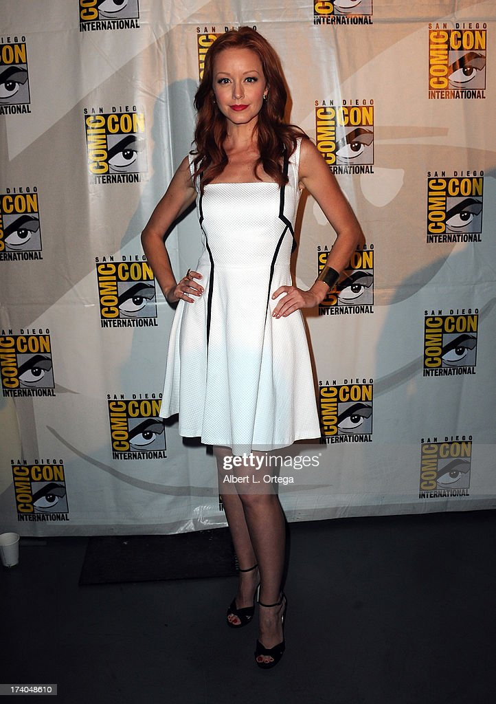 Actress <a gi-track='captionPersonalityLinkClicked' href=/galleries/search?phrase=Lindy+Booth&family=editorial&specificpeople=560349 ng-click='$event.stopPropagation()'>Lindy Booth</a> attends the 'Kick-Ass 2' and 'Riddick' Panels during Comic-Con International 2013 at San Diego Convention Center on July 19, 2013 in San Diego, California.
