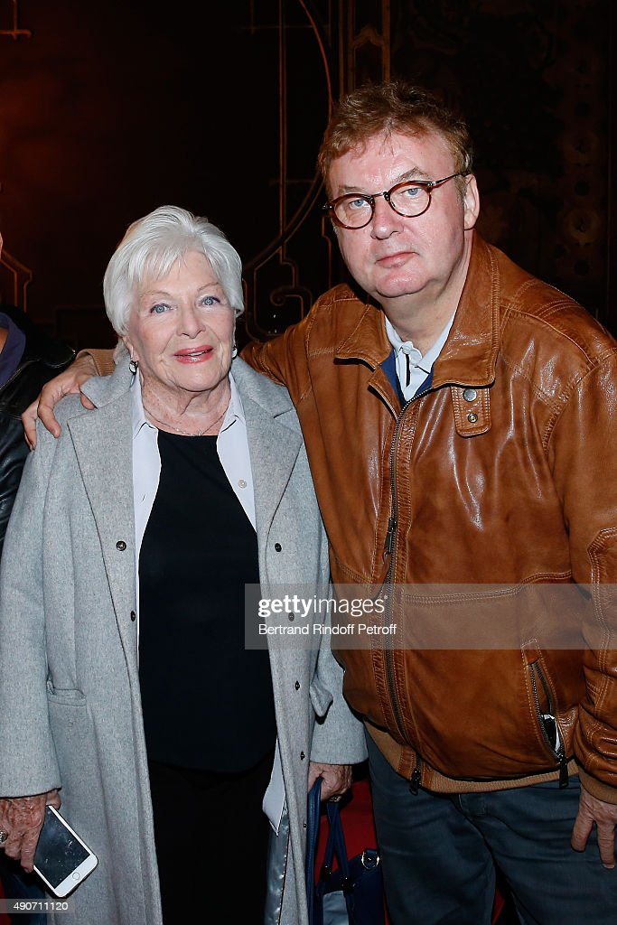 COVERAGE Actress Line Renaud and Producer Dominique Besnehard attend the Private View of the TV Series 'Dix Pour Cent' at Cinema La Pagode on...