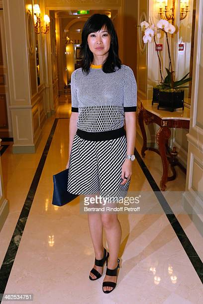 Actress LinhDan Pham at the Chaumet's Cocktail Party for Cesar's Revelations 2014 at Musee Chaumet followed by a dinner at Hotel Meurice on January...